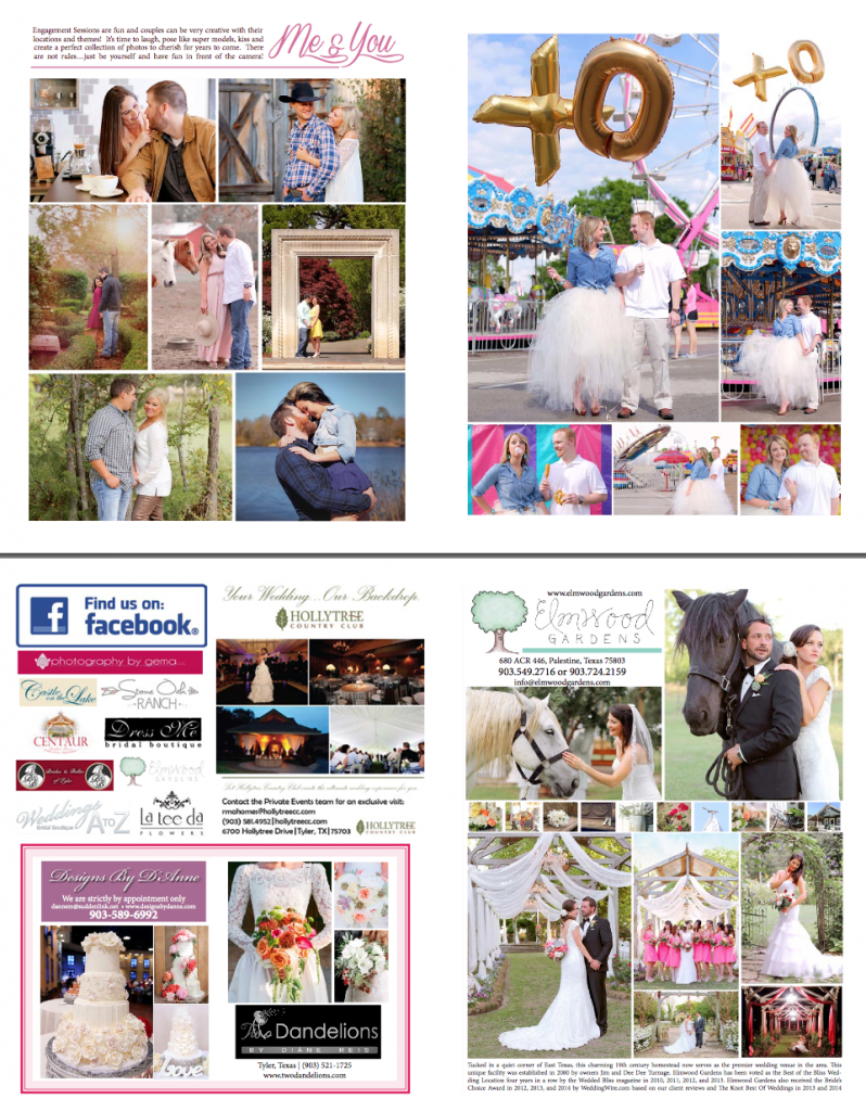 Romance Wedding Magazine Tyler, Texas
