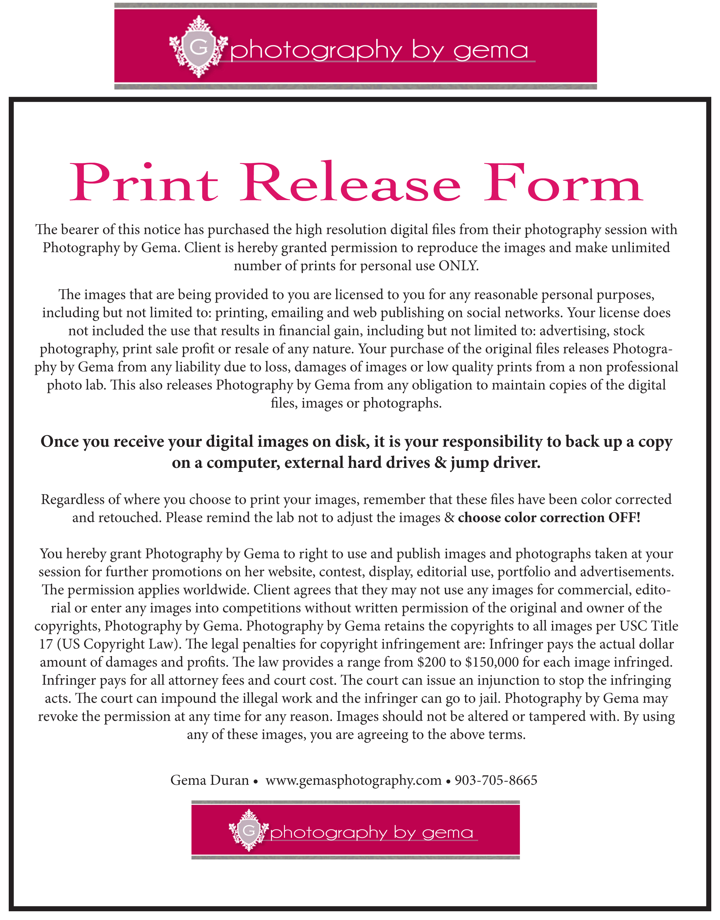 Print Right Form
