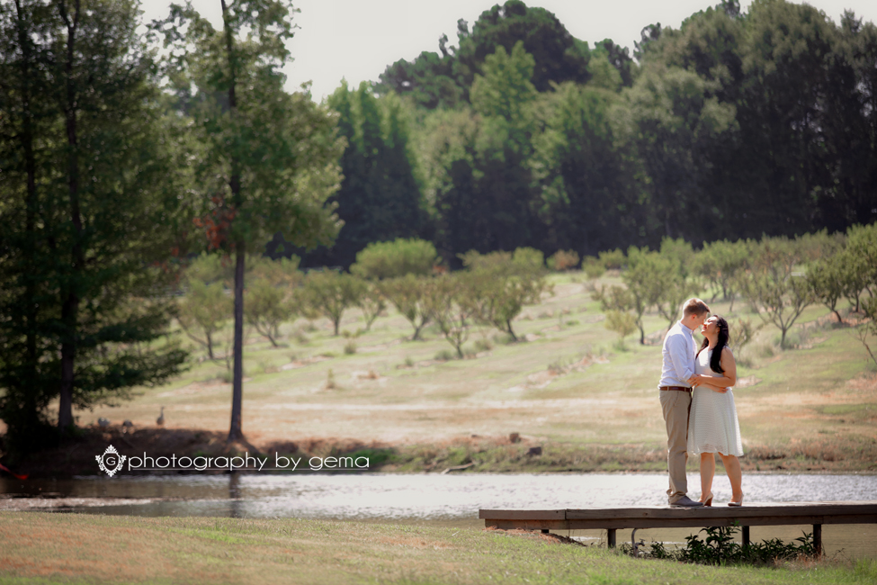 engagement session peach orchard farm